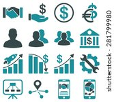 business charts and bank icons. ... | Shutterstock . vector #281799980