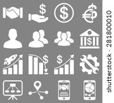 business charts and bank icons. ... | Shutterstock .eps vector #281800010