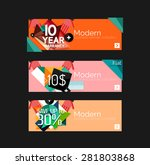 set of banners with stickers ... | Shutterstock .eps vector #281803868