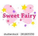 vector vintage print for girl t ... | Shutterstock .eps vector #281805350