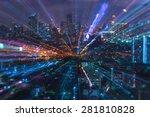 abstract light of bangkok city | Shutterstock . vector #281810828