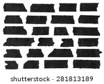 set of horizontal and different ... | Shutterstock .eps vector #281813189