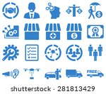 business  trade  shipment icons.... | Shutterstock . vector #281813429