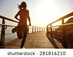 healthy lifestyle sports woman... | Shutterstock . vector #281816210
