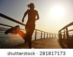 healthy lifestyle sports woman... | Shutterstock . vector #281817173