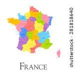 vector illustration of france... | Shutterstock .eps vector #281818640
