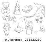 children toys  | Shutterstock . vector #281823290