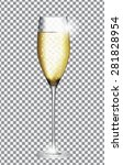 Glass Of Champagne Vector...