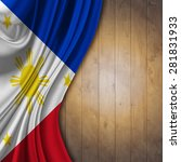 Flag Of The Philippines On...