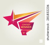 vector contest winner star   Shutterstock .eps vector #281832236