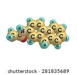 2 acetylaminofluorene is a... | Shutterstock . vector #281835689