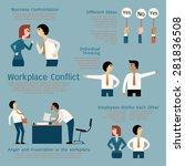 set of business conflict... | Shutterstock .eps vector #281836508