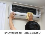 air conditioner cleaning | Shutterstock . vector #281838350