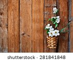 Daffodils And Blossoming Apple...