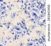 Seamless Pattern And Watercolo...
