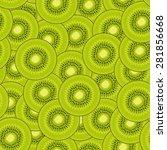 kiwi pattern   Shutterstock .eps vector #281856668