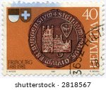 Vintage World Postage Stamp Ephemera switzerland (editorial) - stock photo