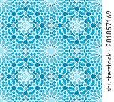 oriental seamless mosaic pattern | Shutterstock .eps vector #281857169