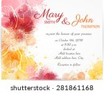 wedding invitation template... | Shutterstock .eps vector #281861168