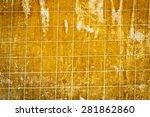 wood floor with dotted line... | Shutterstock . vector #281862860