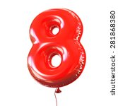 number eight   8 balloon font | Shutterstock . vector #281868380