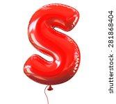 letter s balloon font | Shutterstock . vector #281868404