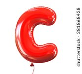 letter c balloon font | Shutterstock . vector #281868428
