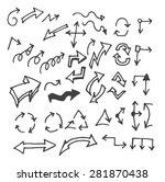 vector hand drawn arrows set... | Shutterstock .eps vector #281870438