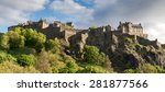 edinburgh castle from princes... | Shutterstock . vector #281877566