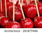 Delicious Red Candy Apples...
