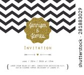 modern card  for invitation or... | Shutterstock .eps vector #281883029