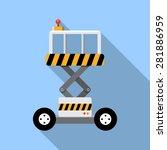 vector scissor lift platform | Shutterstock .eps vector #281886959