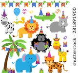 vector collection of birthday... | Shutterstock .eps vector #281891900