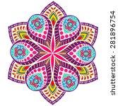 abstract ethnic ornate... | Shutterstock .eps vector #281896754