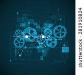 neon circuit board  abstract ... | Shutterstock . vector #281910824