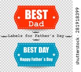 happy father's day vector... | Shutterstock .eps vector #281918399