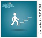 concept  businessman on stair... | Shutterstock .eps vector #281919284