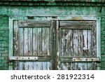 A Wooden Vintage Scaled Door A...