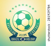 emblem design for football... | Shutterstock . vector #281929784