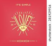 love life. fun hand drawn... | Shutterstock . vector #281929916