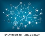 internet of things  iot  and... | Shutterstock .eps vector #281935604