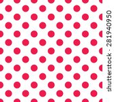 polka dot pattern  seamless... | Shutterstock .eps vector #281940950