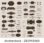 set of calligraphic elements... | Shutterstock .eps vector #281943464