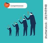 businessmen in a chain of man... | Shutterstock .eps vector #281945948