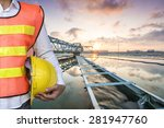 engineer with the solid contact ... | Shutterstock . vector #281947760