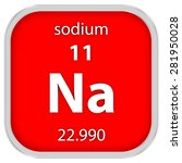 sodium material on the periodic ... | Shutterstock . vector #281950028