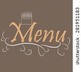 colored menu design with text... | Shutterstock .eps vector #281951183