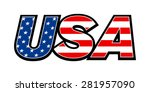 usa united states of america... | Shutterstock .eps vector #281957090