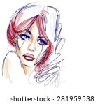 vector background with a... | Shutterstock .eps vector #281959538