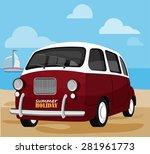 vector illustration of a retro... | Shutterstock .eps vector #281961773